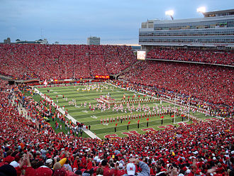 Nebraska Cornhuskers - The Cornhuskers play a sold-out game in Memorial Stadium