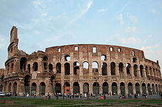 the Western side of the Colosseum