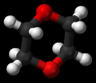 1,4-Dioxane - Image: 1,4 Dioxane 3D balls