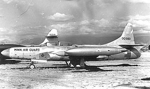 109th Airlift Squadron - F-94C 50-980 about 1958, 109th Fighter-Interceptor Squadron