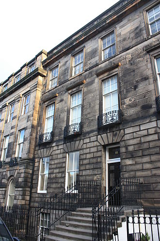 Moir Tod Stormonth Darling, Lord Stormonth-Darling - Stormonth-Darling's house at 10 Great Stuart Street, Edinburgh