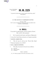 116th United States Congress H. R. 0000225 (1st session) - Puerto Rico Small Business Assistance Act of 2019.pdf