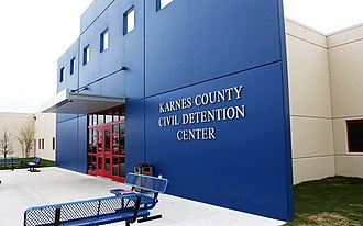 Immigration detention - ICE detention facility in Karnes County, Texas.
