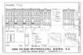 1206-1242 Pennsylvania Avenue, Southeast (Houses), Washington, District of Columbia, DC HABS DC,WASH,577- (sheet 1 of 3).png