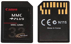 MultiMediaCard - 32 MB MMCplus card