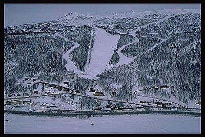 Tärnaby, skidbacken i mitten