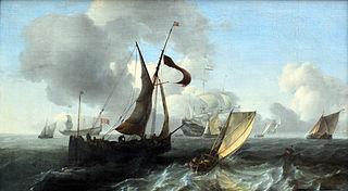 Ships in light breeze