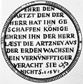 17th century astrological amulet against disease, Germany Wellcome M0005723.jpg