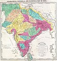 1821 Carey Map of India - Geographicus - India-carey-1821 (cropped).jpg