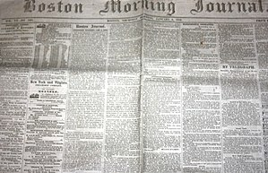 The Boston Journal - Image: 1852 Boston Morning Journal January 8