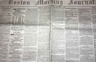 The Boston Journal - Image: 1852 Boston Morning Journal January 8