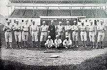 A black-and-white photo of the 1884 Providence Grays