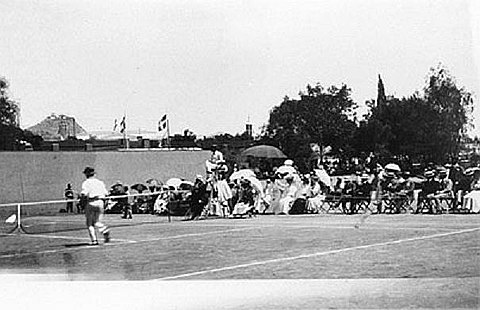 1896 Summer Olympics men's singles final 1896 Olympic tennis.jpg
