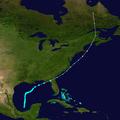 1932 Atlantic tropical storm 5 track.png