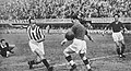 1934–35 Serie A - Fiorentina v Juventus - Ferrari scores Scudetto's goal (edited).jpg