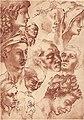 1940-studi-di-teste-Michelangelo.jpg