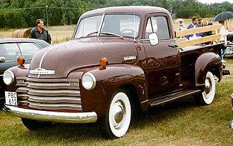 Chevrolet Advance Design - Image: 1952 Chevrolet Pickup PBC612