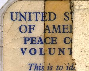 Peace Corps - Fragment of a 1965 in-country identification card