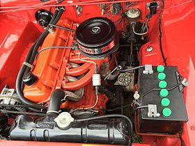 Chrysler Slant 6 engine on 1968 hemi dart engine