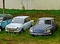 1971 DAF 33 and 1969 Citroën DS, Saint-Cirq-Madelon, Lot, France (8482316934).jpg