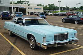 1976 lincoln town coupe (two-door version)