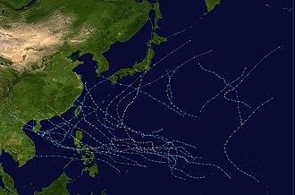 1981 Pacific typhoon season - Image: 1981 Pacific typhoon season summary