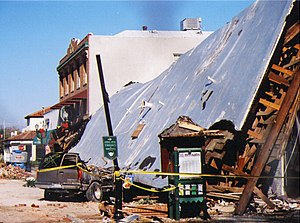 2003 San Simeon earthquake - Damage at Pan Jewelers inside the Acorn Building