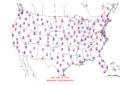 2006-01-18 Max-min Temperature Map NOAA.png