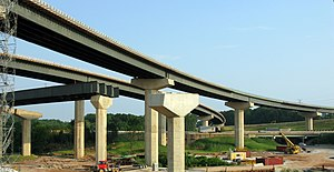 Interstate 695 (Maryland) - The then-under-construction interchange between I-95 and I-695 northeast of Baltimore