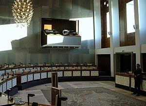 States of Gelderland - The chamber of the States of Gelderland in the Provinciehuis in Arnhem.