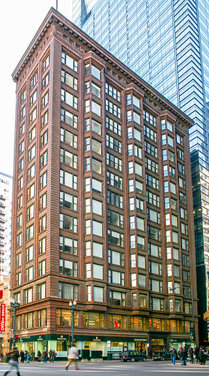 Chicago school (architecture) - The Chicago Building by Holabird & Roche (1904–1905) is a prime example of the Chicago School, displaying both variations of the Chicago window