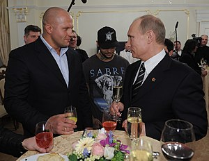 Fedor Emelianenko - Emelianenko with Vladimir Putin in March 2012.