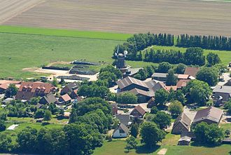 Lintig - Aerial view with the windmill, 2012