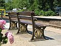 2012 at Bradford-on-Avon station - GWR bench.jpg