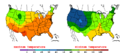 2013-05-30 Color Max-min Temperature Map NOAA.png