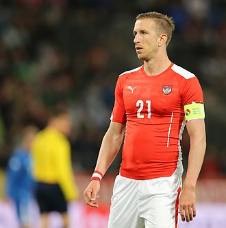 Marc Janko - Janko in a match for Austria against Iceland in 2014