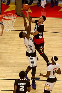 20150401 MCDAAG Ben Simmons attacks Caleb Swanigan (1).JPG
