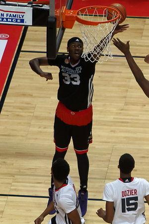 Diamond Stone - Stone grabbing a rebound in the 2015 McDonald's All-American Boys Game