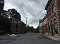 2016-08-21 12 23 20 View south along Maryland State Route 851 (Main Street) at Oklahoma Avenue and Sandosky Road in Sykesville, Carroll County, Maryland.jpg
