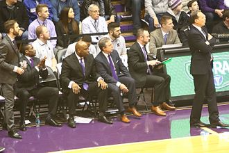 2016–17 Northwestern Wildcats men's basketball team - coaching staff on March 1