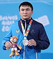 2018-10-11 Victory ceremony (Weightlifting Boys' 77kg) at 2018 Summer Youth Olympics by Sandro Halank–006.jpg