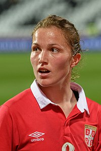 20180405 FIFA Women's World Cup Qualification AUT-SRB Jelena Cubrilo 850 6688.jpg
