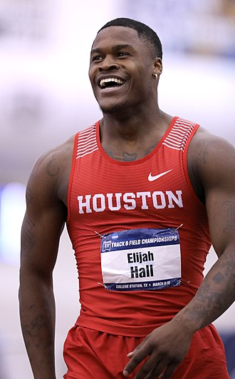 Elijah Hall (athlete) - Elijah Hall at the 2018 NCAA Division I Indoor Track and Field Championships