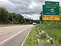 2019-05-17 13 29 43 View west along Interstate 68 and U.S. Route 40 (National Freeway) at Exit 41 (Seton Drive, TO Maryland State Route 49) in Bowling Green, Allegany County, Maryland.jpg