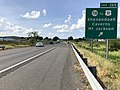 2019-06-06 16 36 36 View north along Interstate 81 at Exit 269 (Virginia State Route 730, TO U.S. Route 11, Shenandoah Caverns, Mount Jackson) in Quicksburg, Shenandoah County, Virginia.jpg