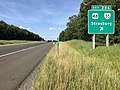 2019-06-06 17 10 10 View north along Interstate 81 at Exit 296 (U.S. Route 48, Virginia State Route 55, Strasburg) in Capon Road, Shenandoah County, Virginia.jpg