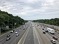 2019-06-24 15 37 44 View north along Interstate 95 (Henry G. Shirley Memorial Highway) from the overpass for Virginia State Route 638 (Pohick Road) in Newington, Fairfax County, Virginia.jpg