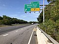 2019-09-23 10 15 44 View west along Maryland State Route 32 (Patuxent Freeway) at Exit 17 (Sanner Road, Cedar Lane) in Columbia, Howard County, Maryland.jpg