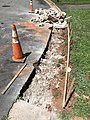 2021-07-13 11 48 46 A section of curb after removal and ready for replacement along Tranquility Court in the Franklin Farm section of Oak Hill, Fairfax County, Virginia.jpg