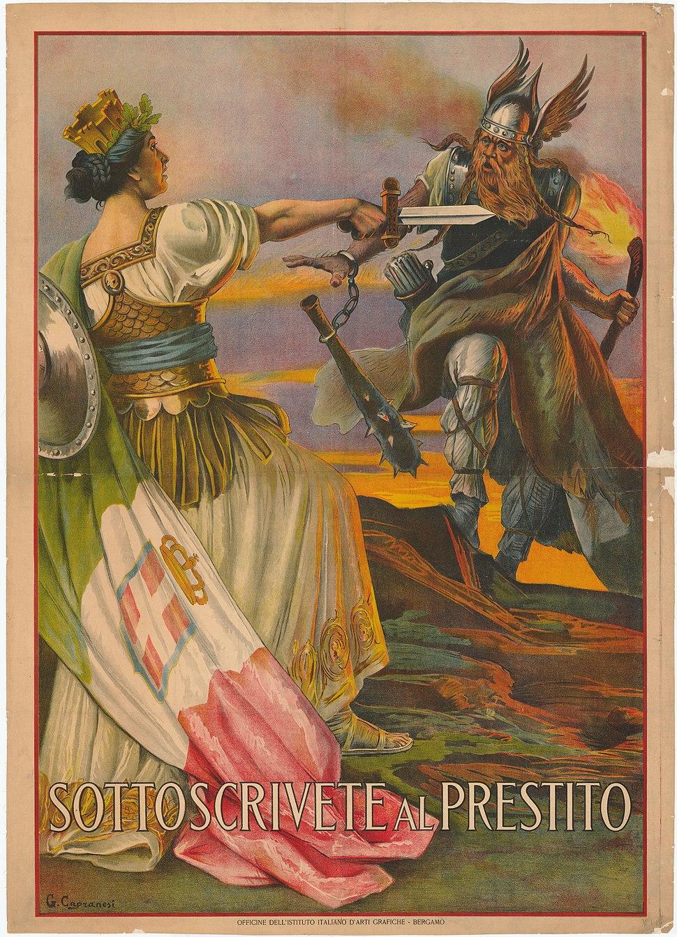 21 Sammlung Eybl Italien. Giovanni Capranesi (1852-1921). Sottoscrivete al presto (Unterzeichnet schnell). 1917. 135 x 100 cm. (Slg.Nr. 755) Kopie